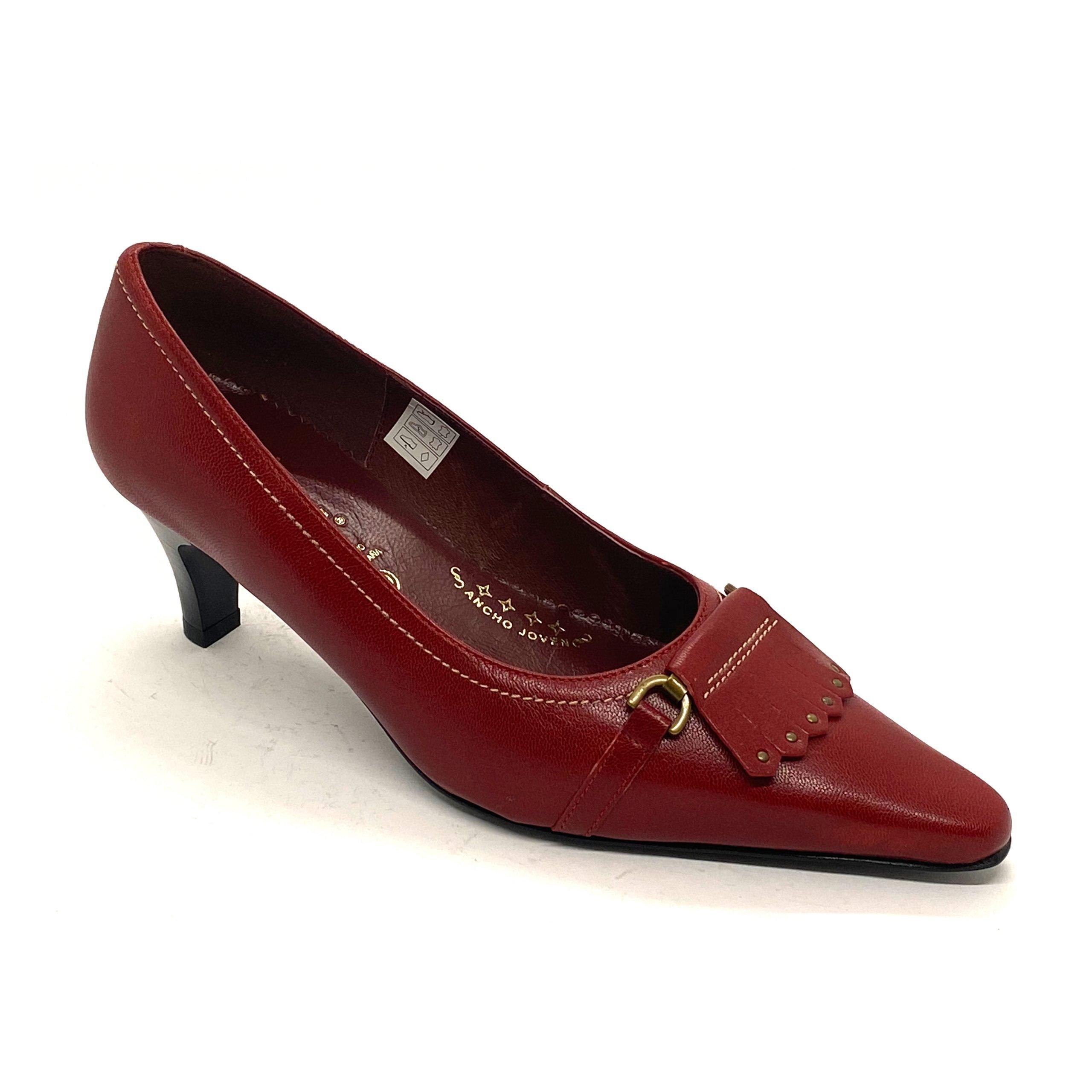 Zapato D´Pell Guinda
